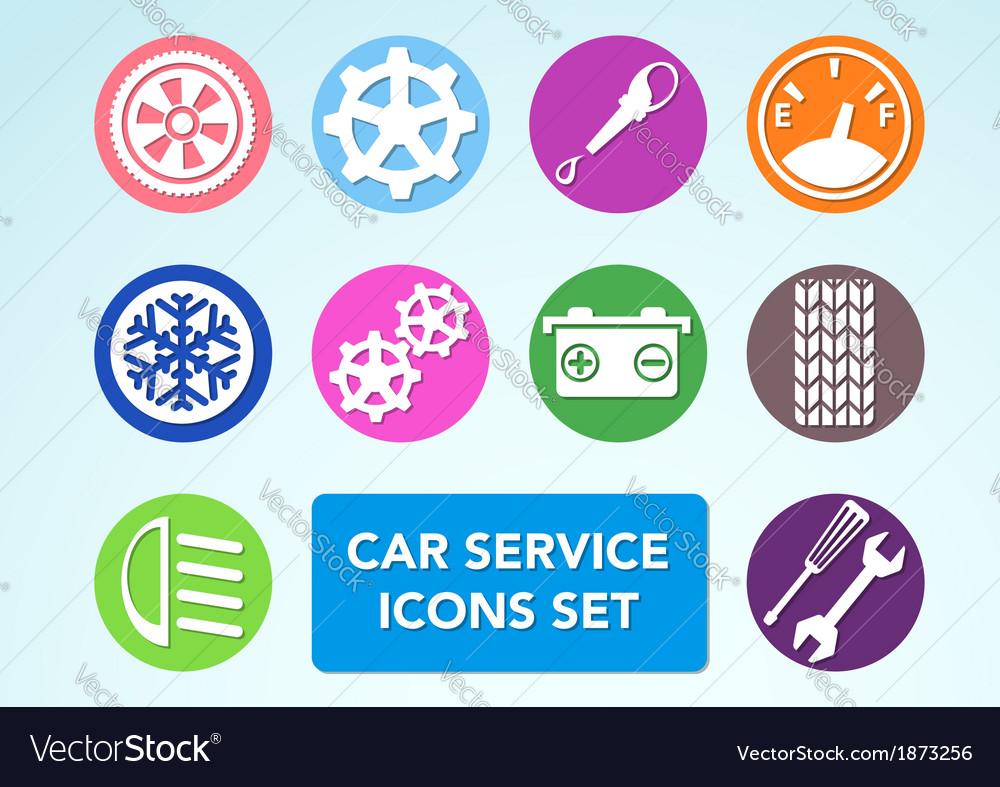 Car minimalistic icons set vector image