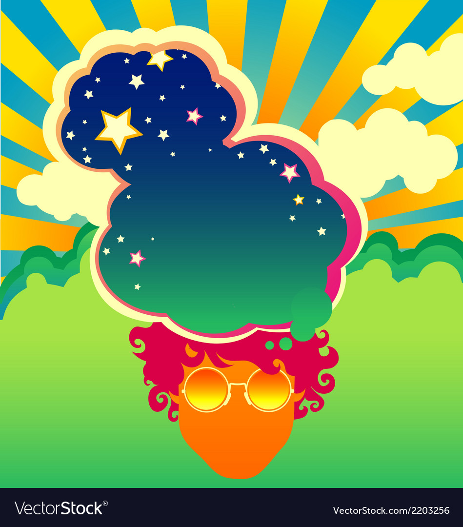 Psychedelic poster vector image