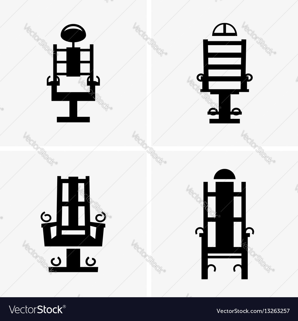 Electric chairs vector image