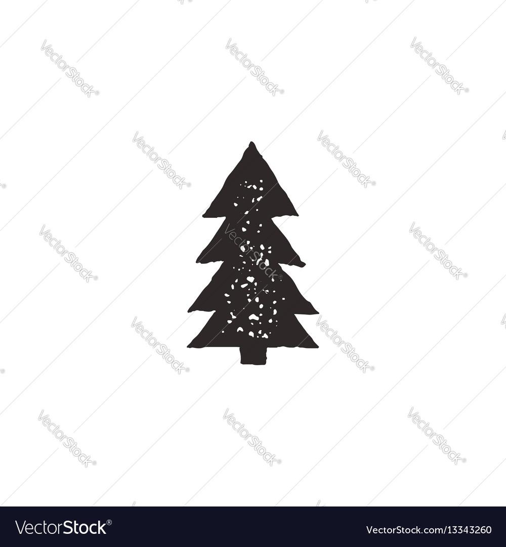 Tree icon retro vector image