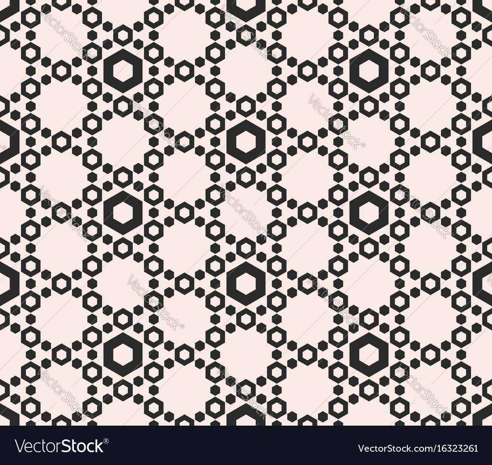 Perforated hex delicate hexagonal grid vector image