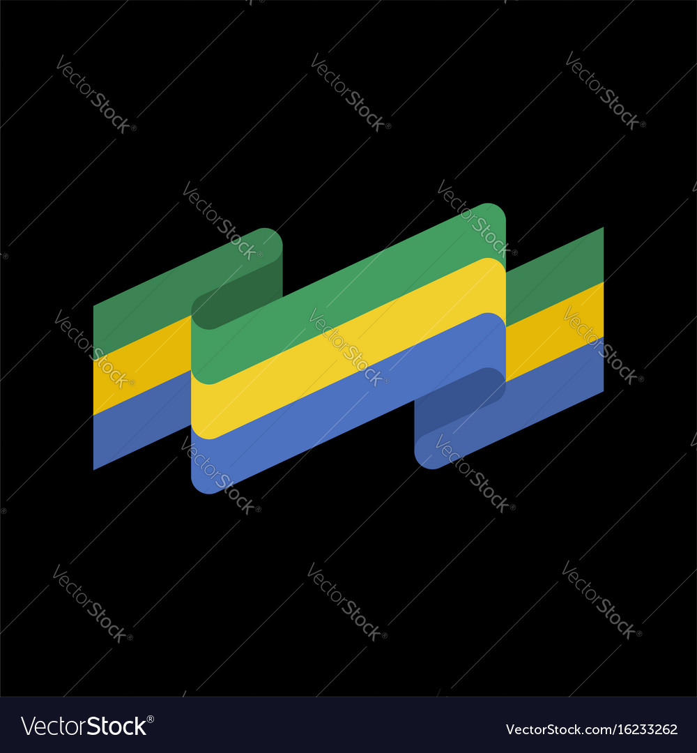 Gabon flag ribbon isolated gabonese republic tape vector image gabon flag ribbon isolated gabonese republic tape vector image sciox Gallery