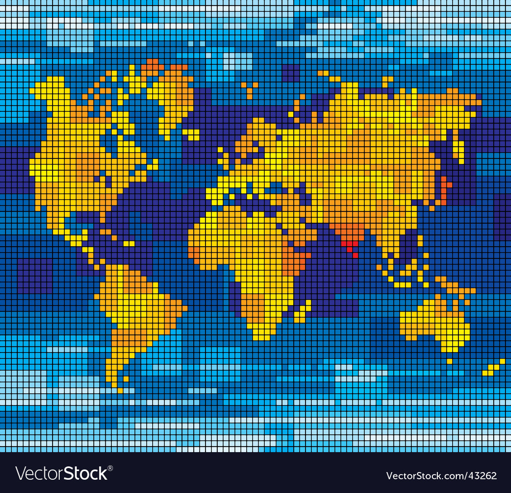 Pixel world map royalty free vector image vectorstock pixel world map vector image sciox Images