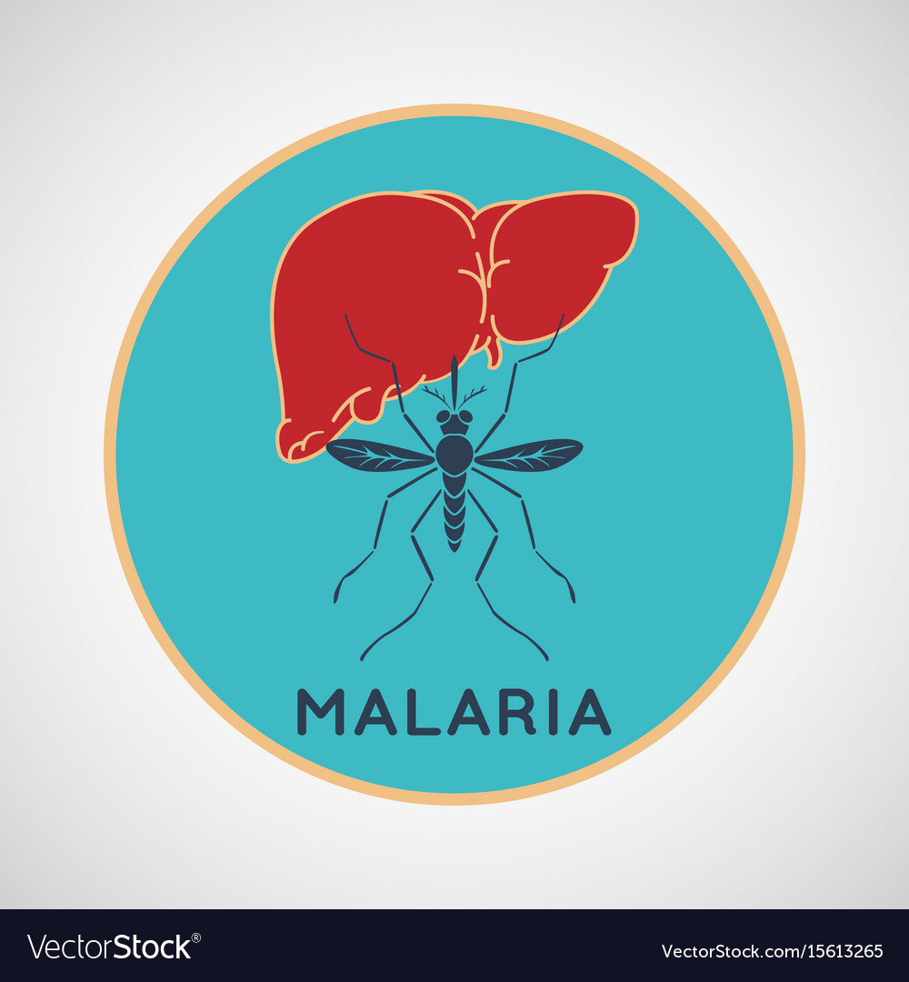 Malaria logo icon design vector image