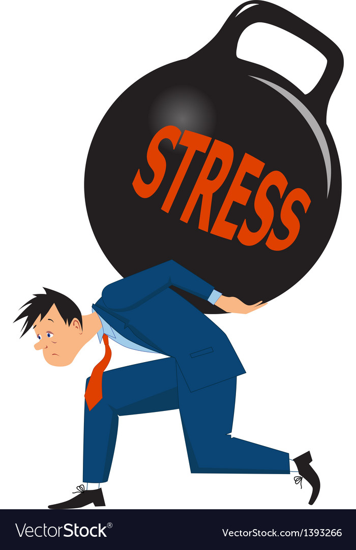 Businessman under stress vector image