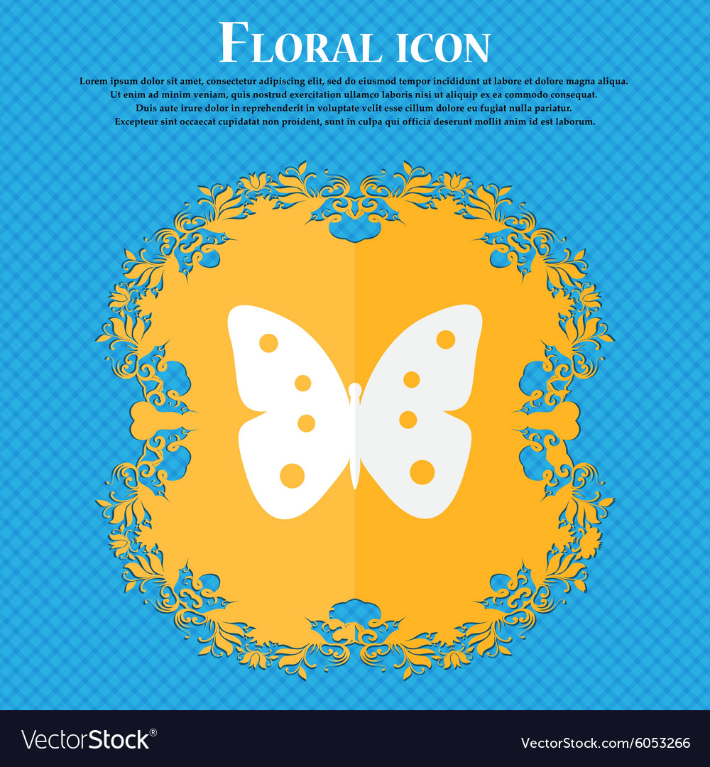 Butterfly sign icon insect symbol floral flat vector image butterfly sign icon insect symbol floral flat vector image biocorpaavc Images