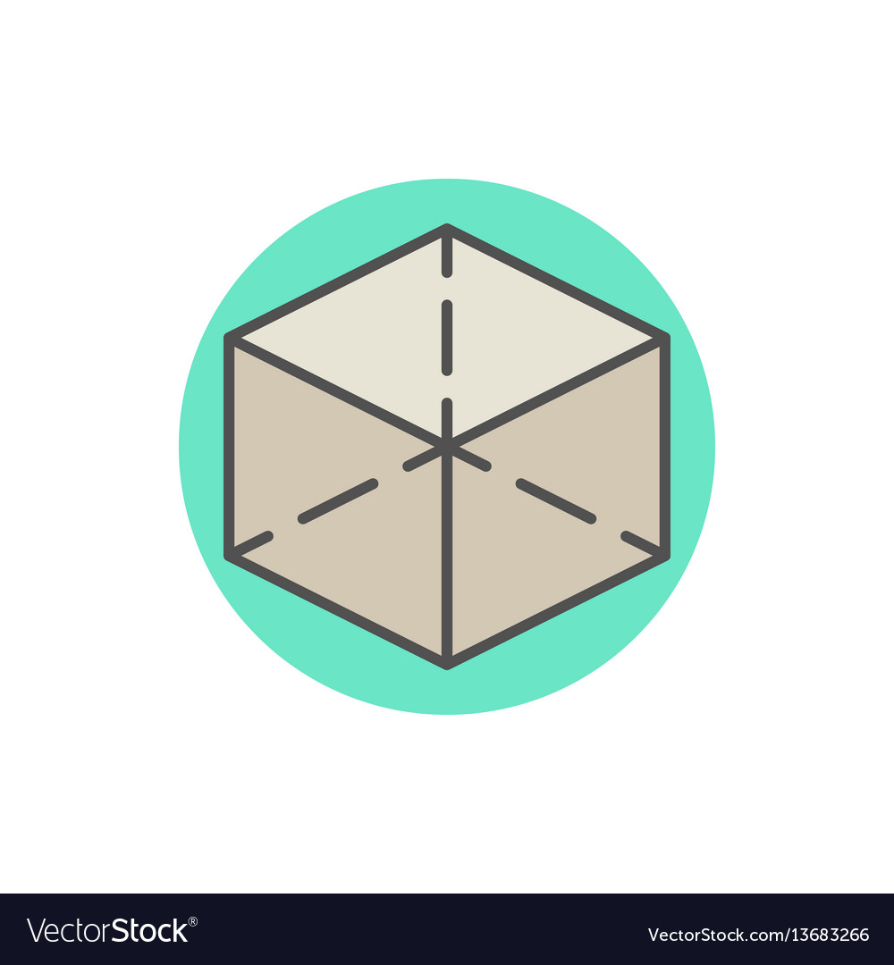 Colorful cube icon vector image