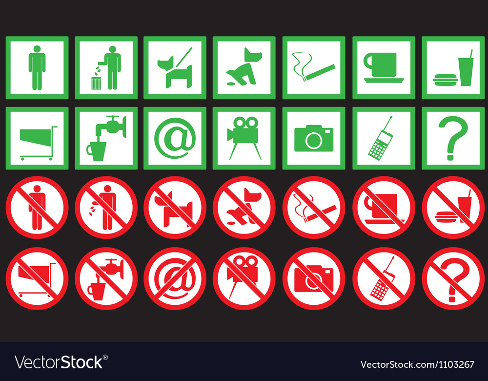 Set of signs vector image