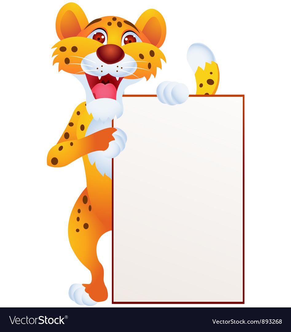 Cheetah cartoon vector image