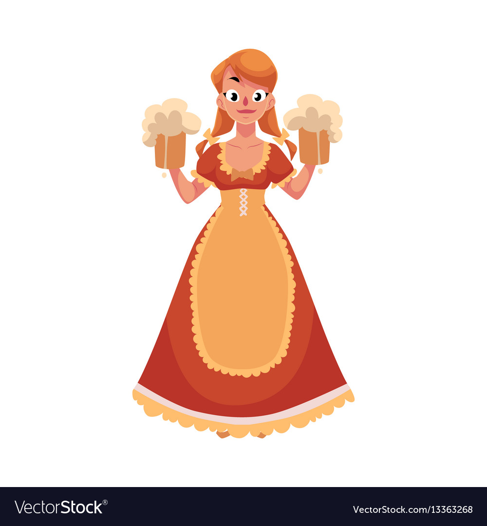 People in traditional german bavarian costume vector image
