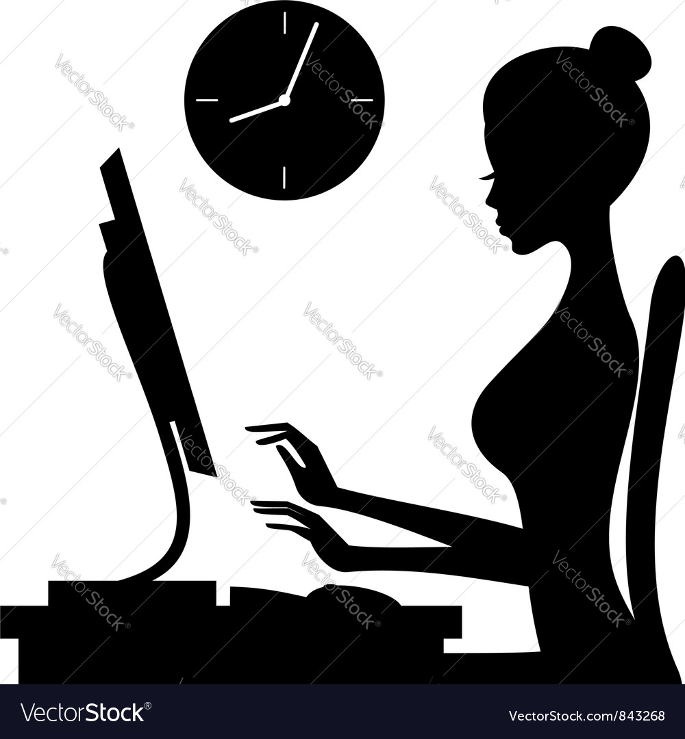 Working woman vector image
