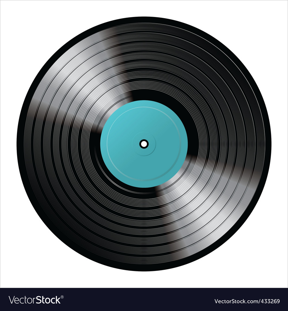 Vinyl image vector image