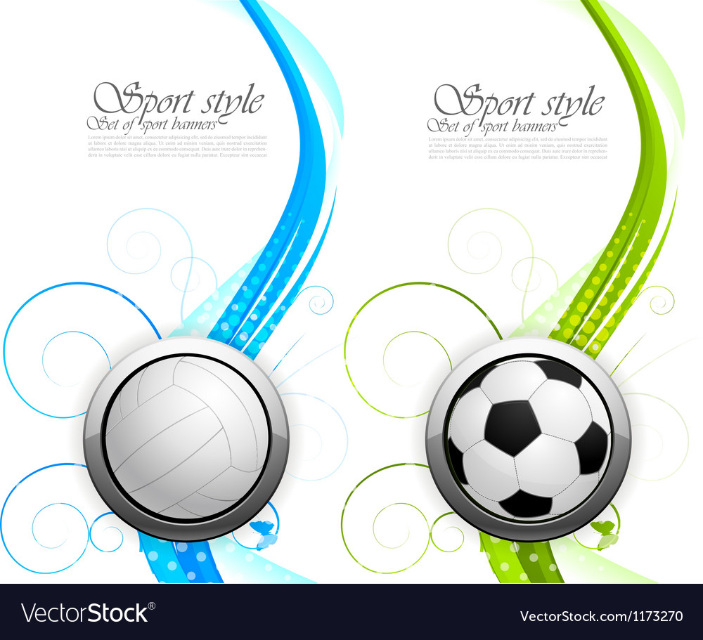 Set of banners with balls vector image