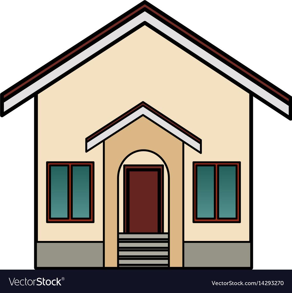 Single house icon image vector image