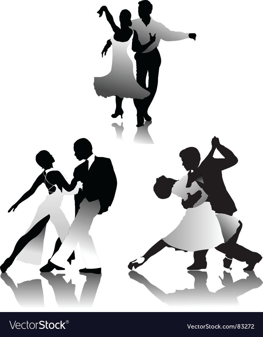 Dancing pairs vector image