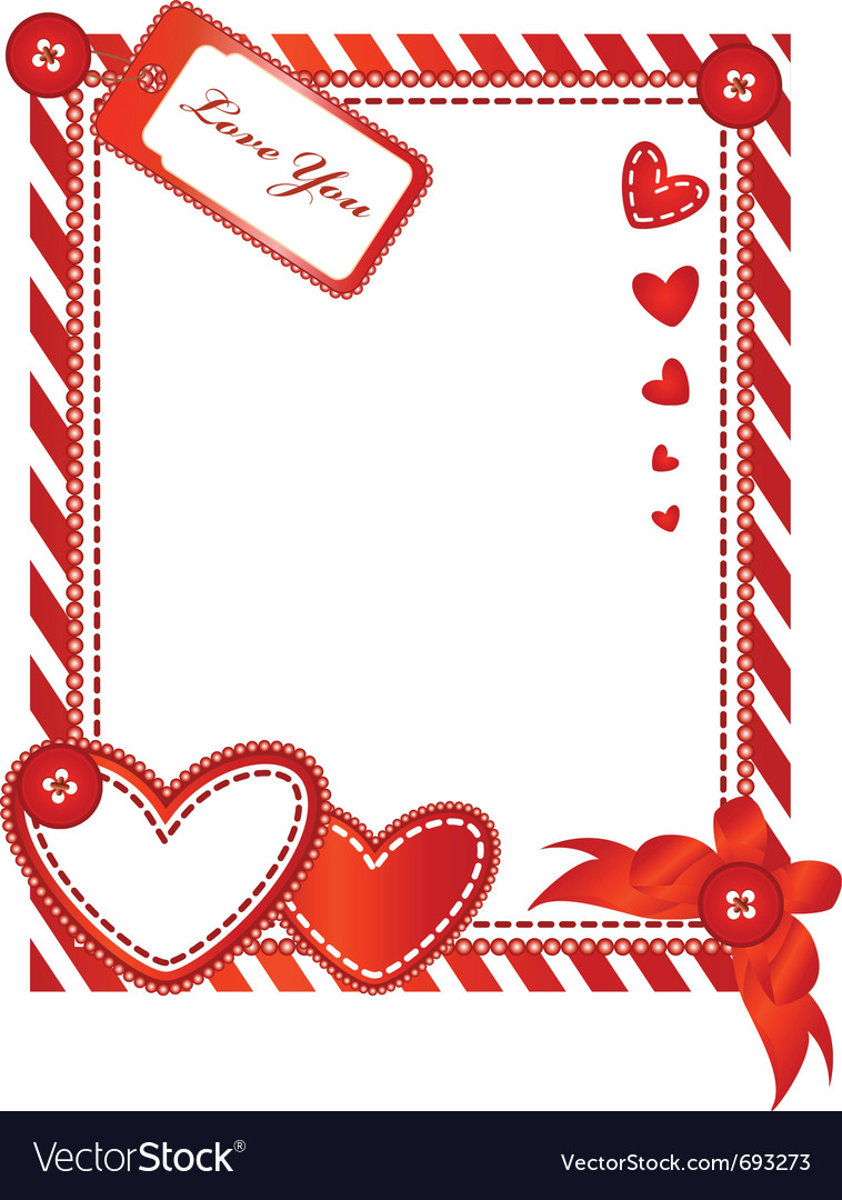 Valentine vertical card vector image