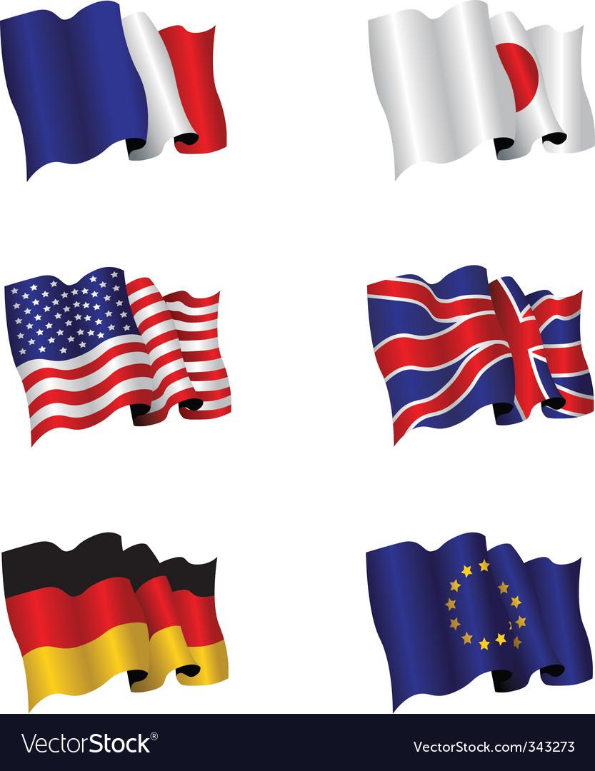 Flag set vector image