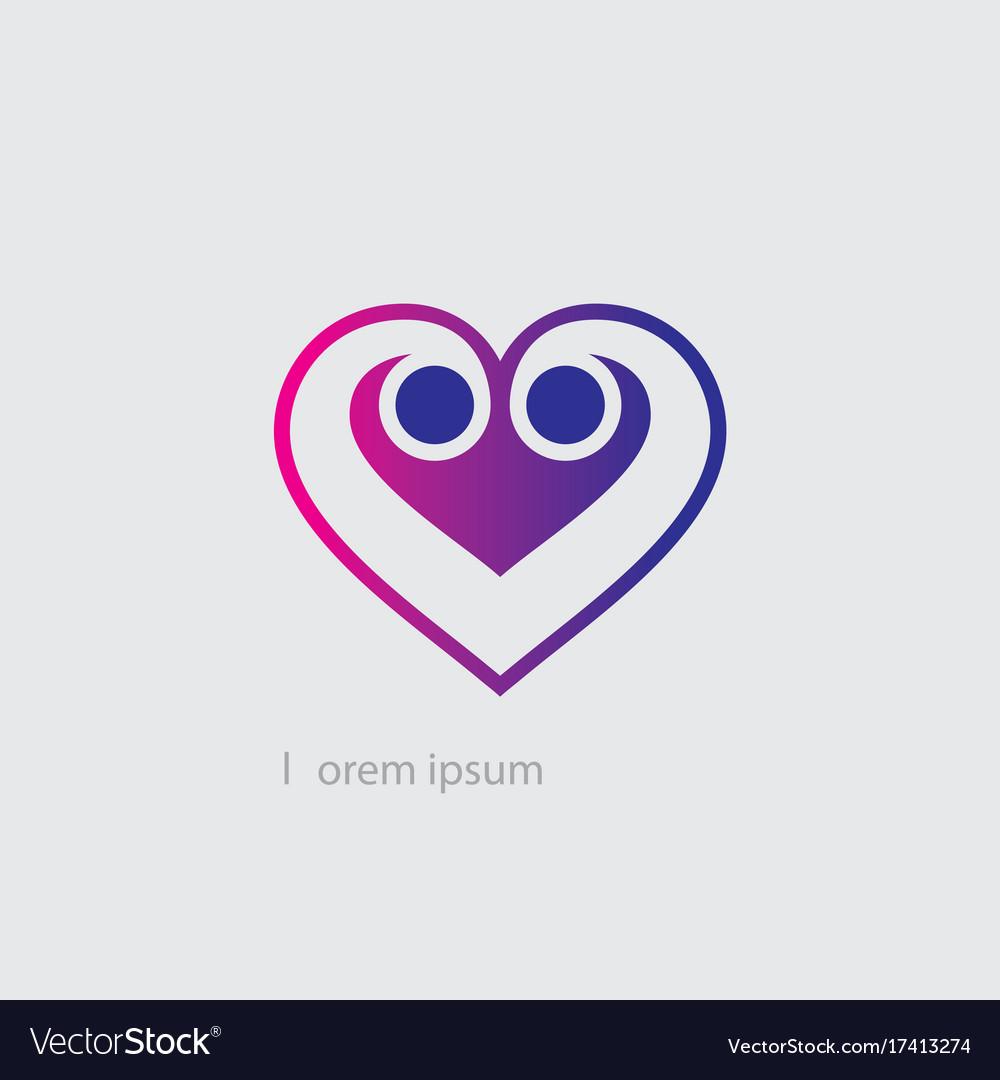 Love sign logo vector image