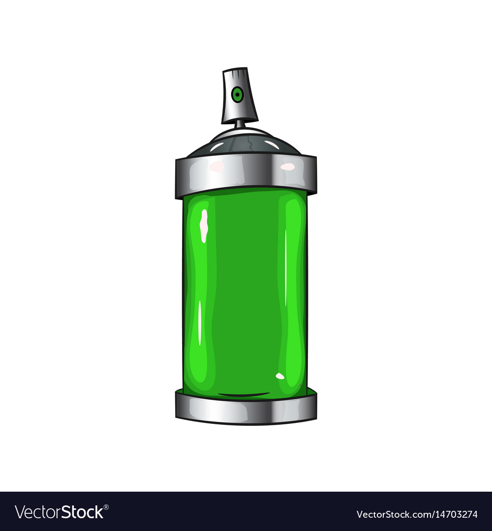 Sprays with green paint vector image