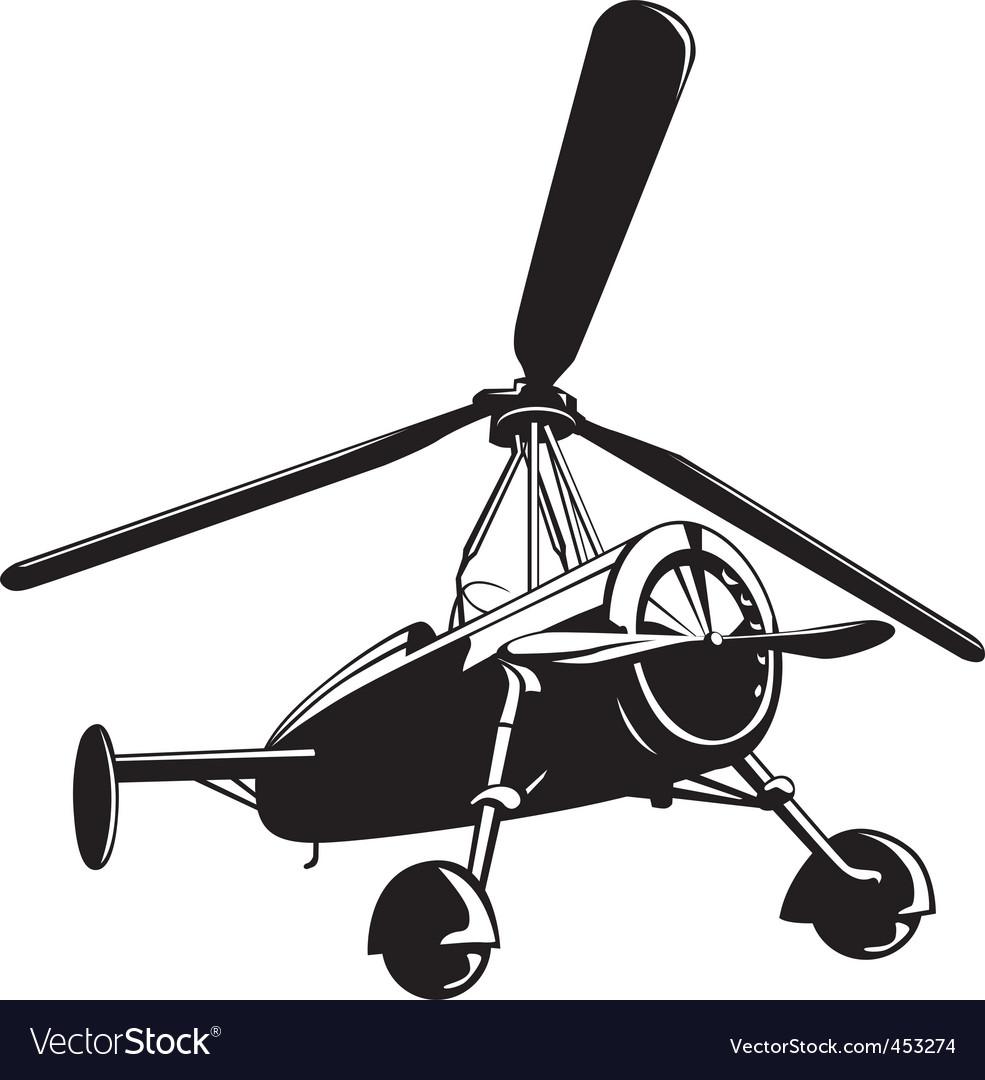 Vector auto gyro vector image
