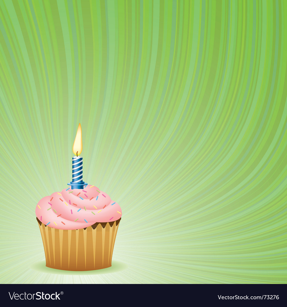 Birthday green background vector image