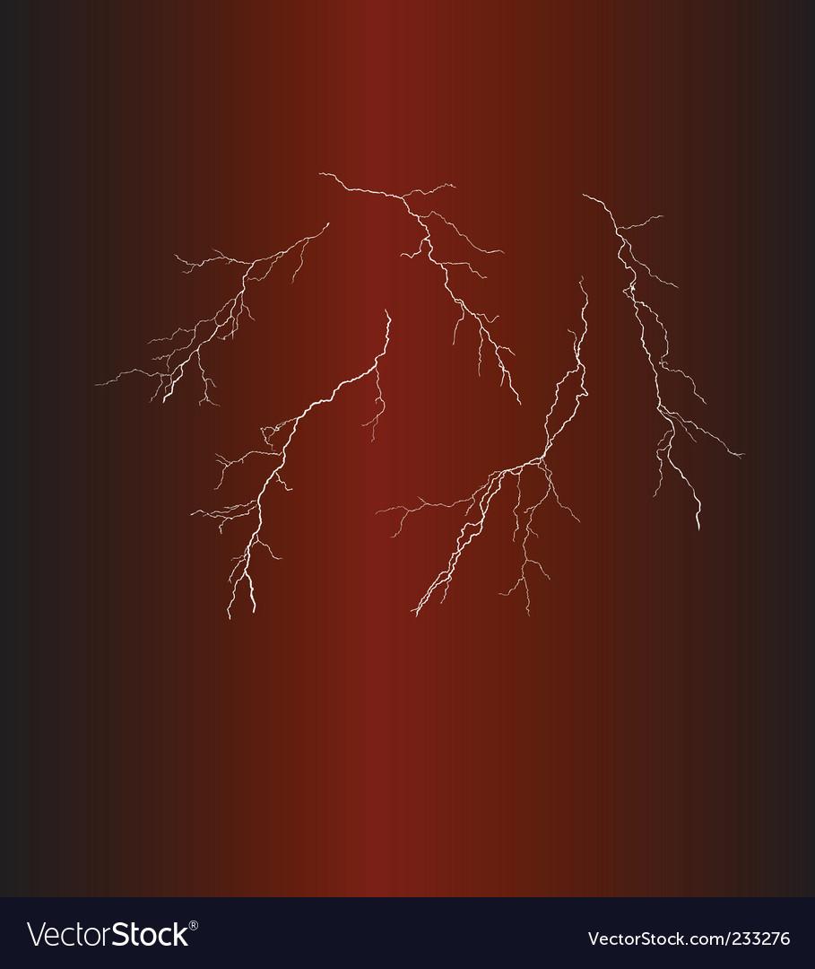 Lightning bolts vector image