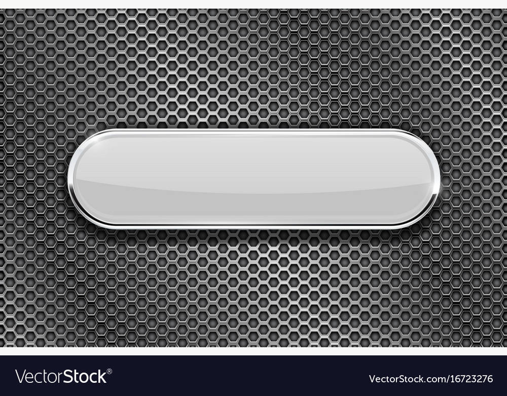 White oval glass plate on perforated background vector image