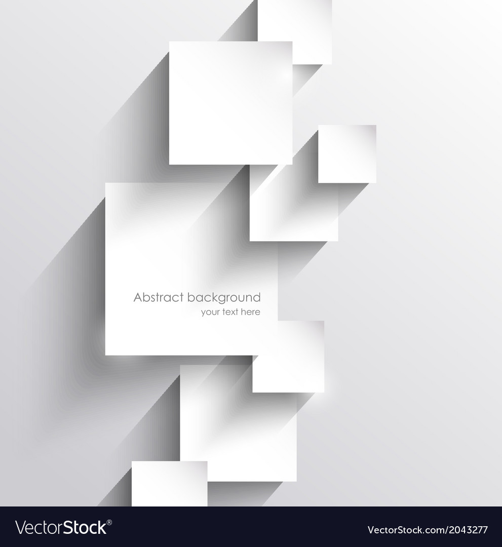 Abstract background with paper squares vector image