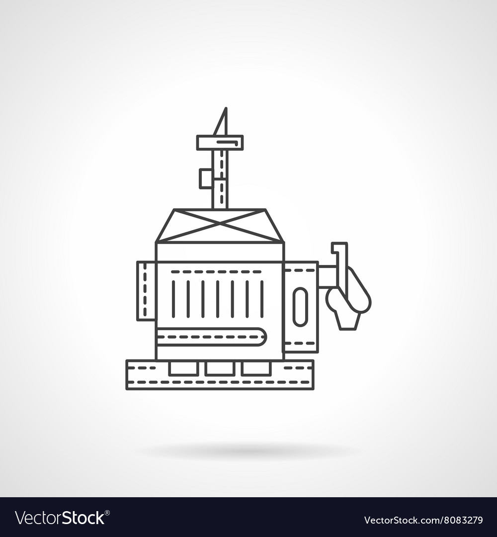 diesel generator icon. Diesel Generator Flat Line Icon Vector Image