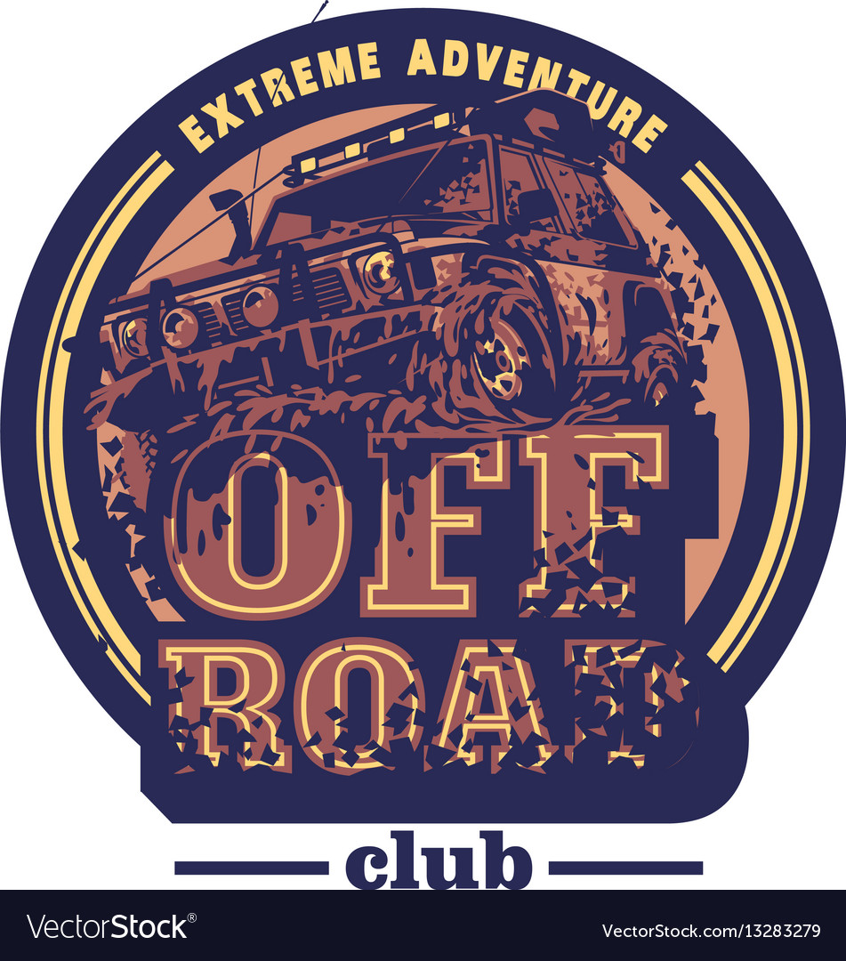 Off Road Car Logo Mud Terrain Suv Expedition Vector Image