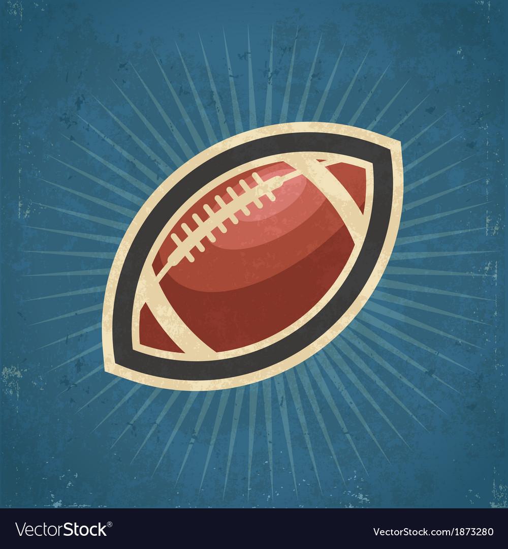 Retro American Football vector image