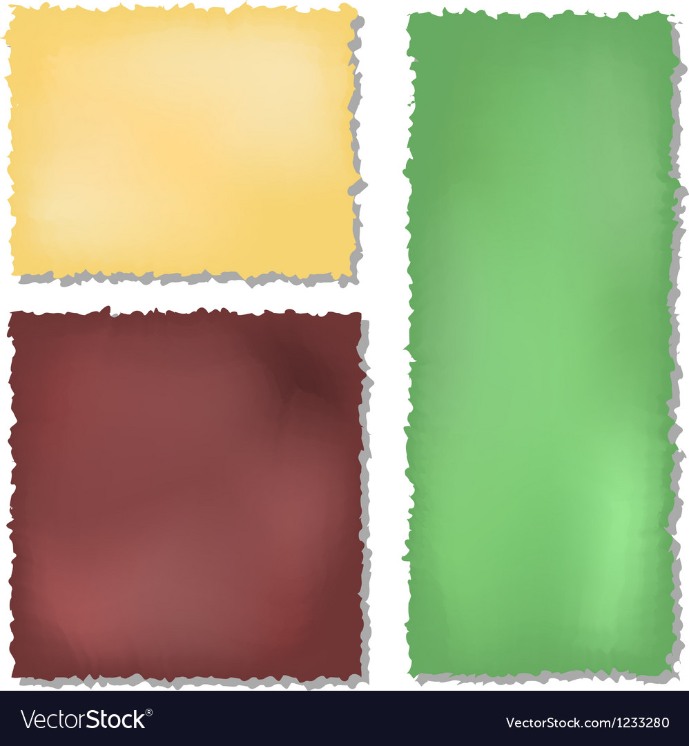 Set of colour grunge papers background vector image