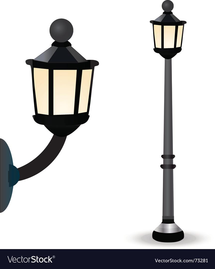 Streetlight set vector image