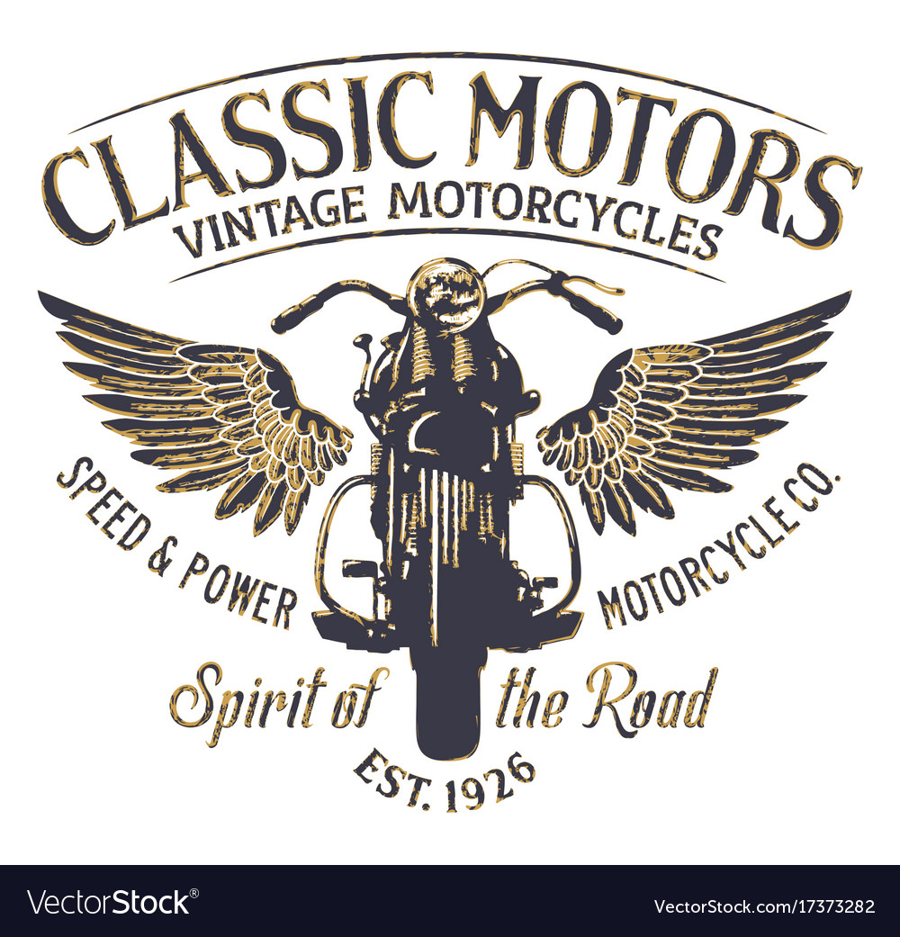 Classic vintage motorcycle company vector image