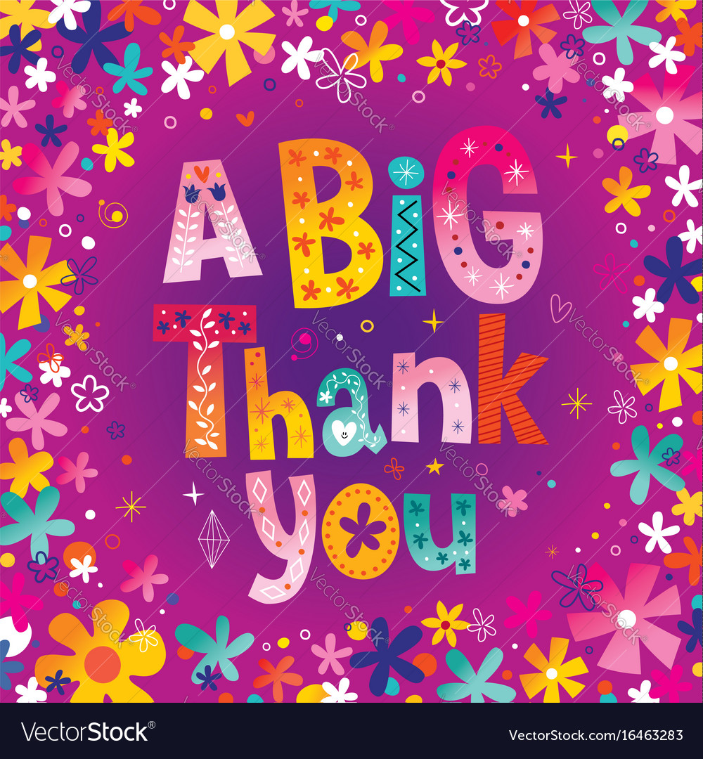 A big thank you greeting card royalty free vector image a big thank you greeting card vector image kristyandbryce Images
