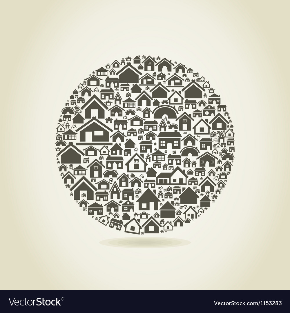 House a sphere vector image