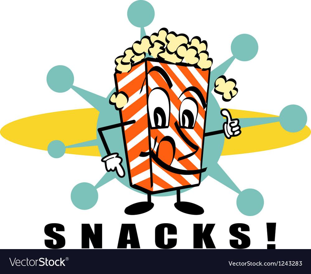 Retro Popcorn snacks vector image