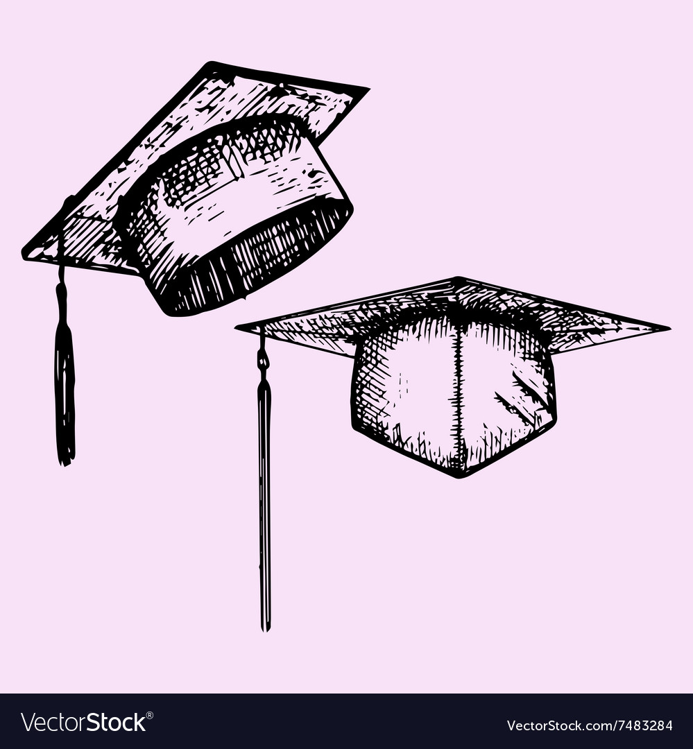 Graduation hat vector image