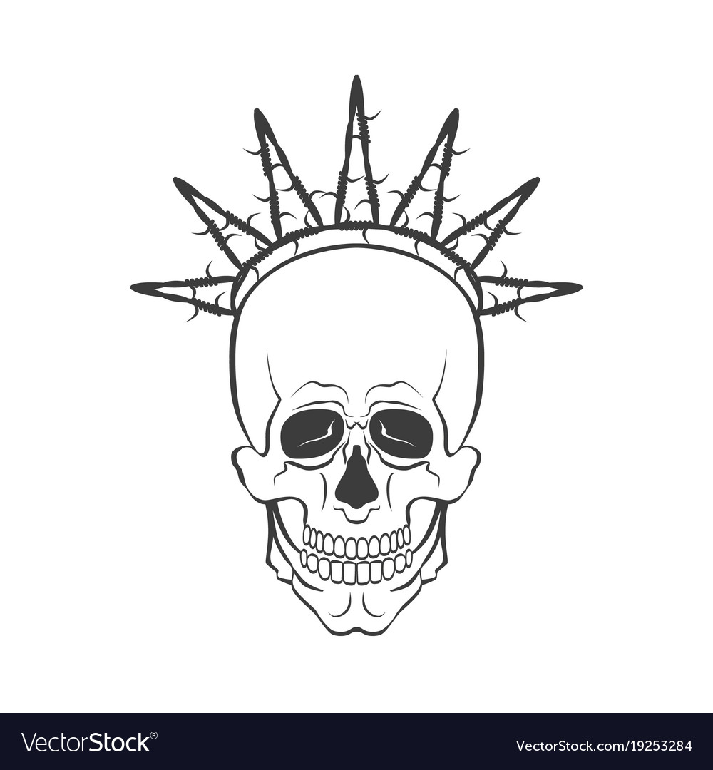 Skull with barbed wire symbol freedom royalty free vector skull with barbed wire symbol freedom vector image buycottarizona Images