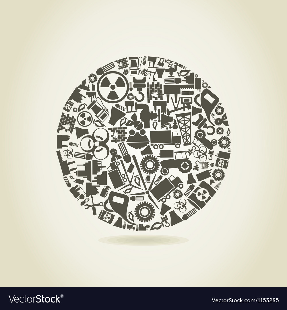 Industry a sphere vector image