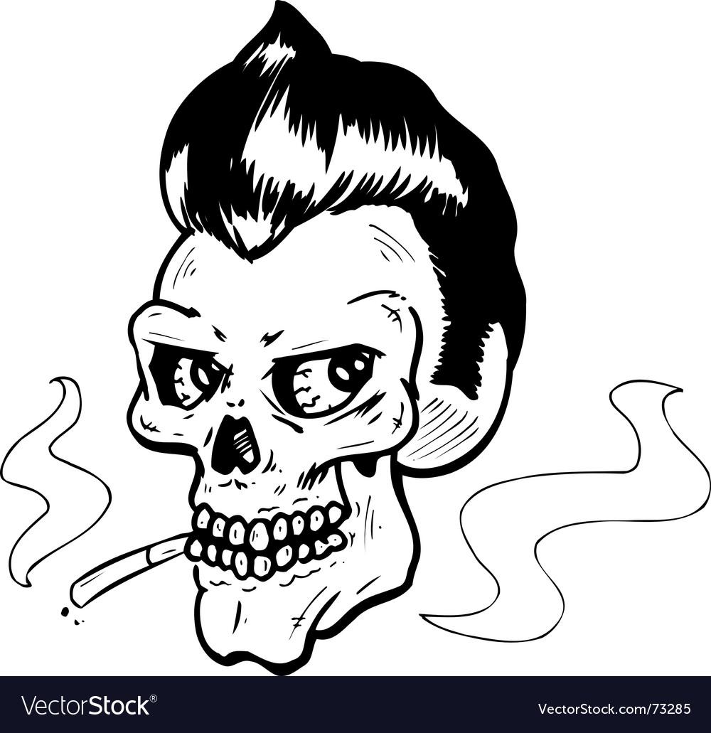 Rock n' Roll skull vector image