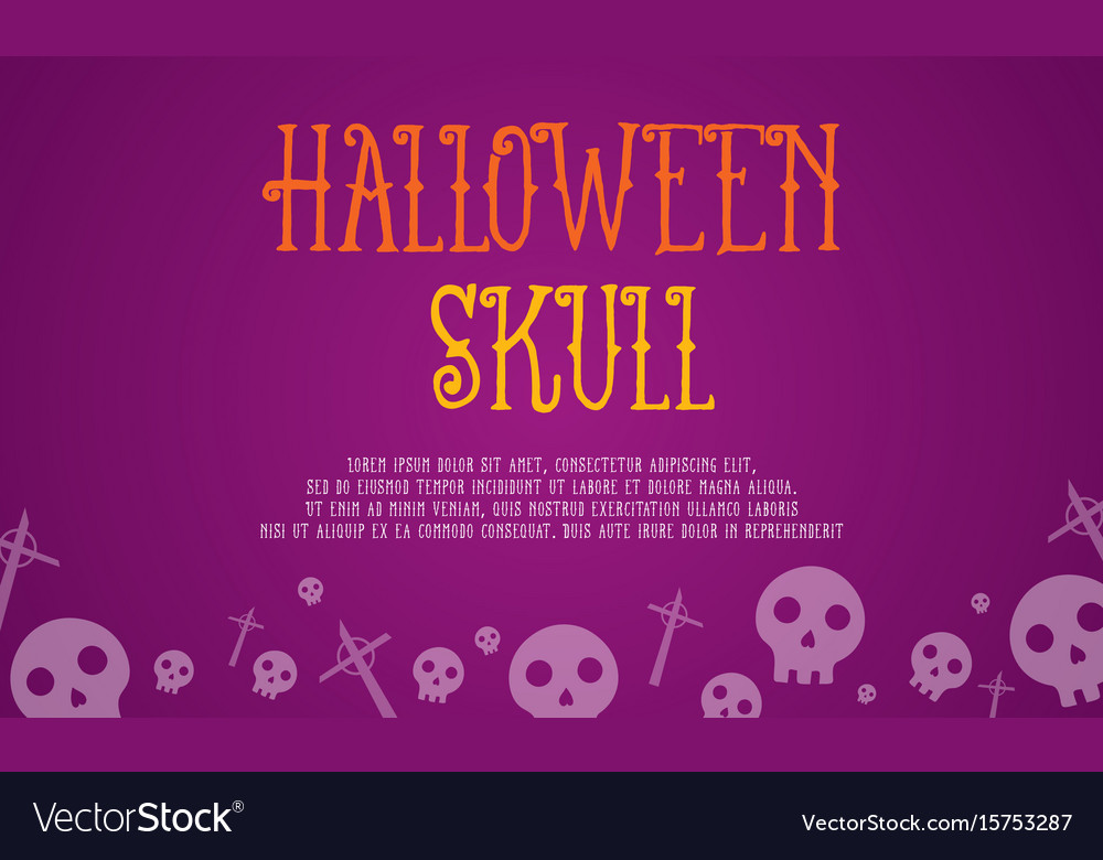 Halloween skull card style collection vector image