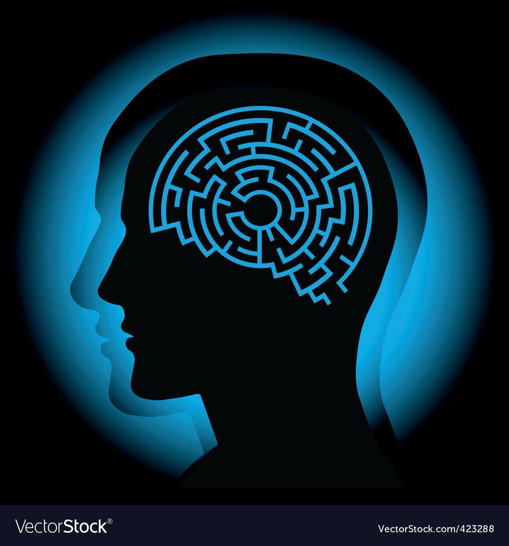 Brain maze vector image