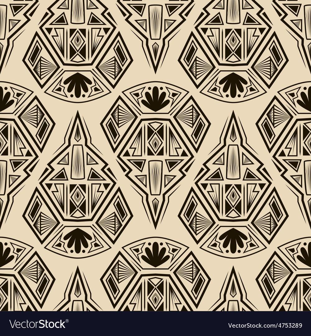 seamless antique art deco pattern ornament royalty free vector image vectorstock. Black Bedroom Furniture Sets. Home Design Ideas