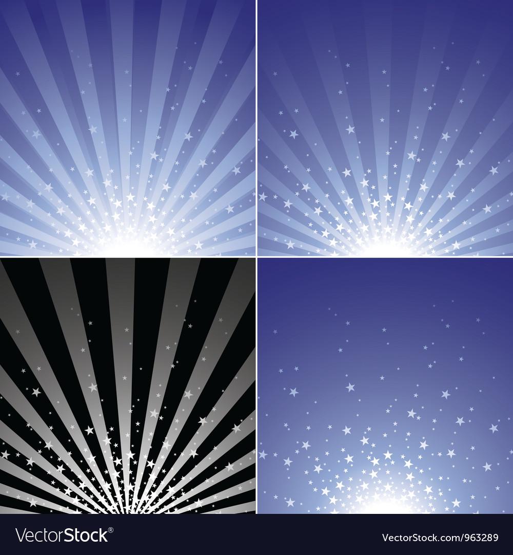 Star Burst Set vector image