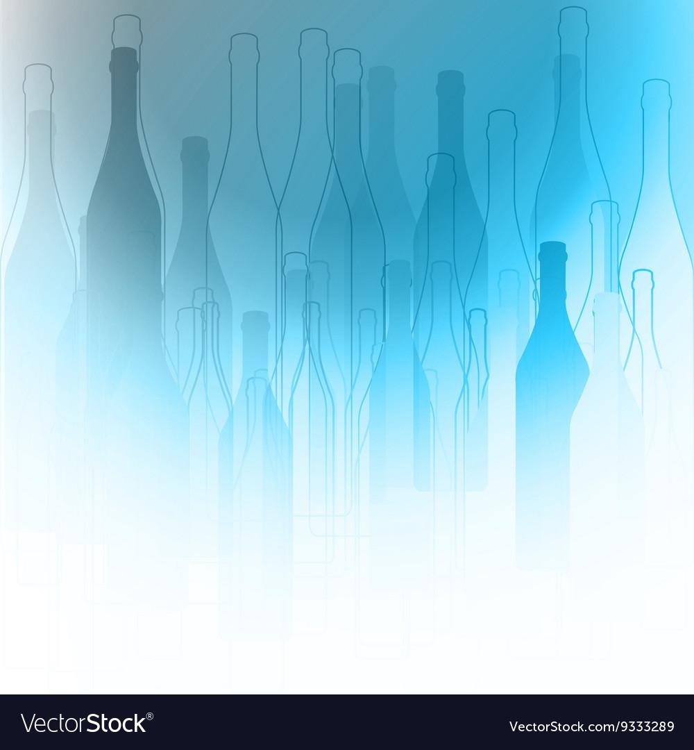 Bottles silhouette background vector image