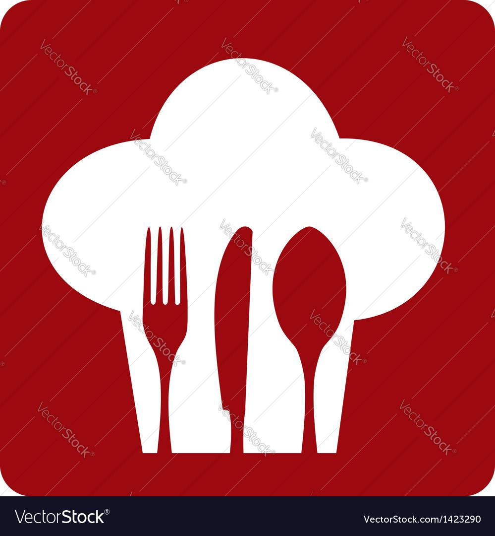 Icon chef restaurant vector image