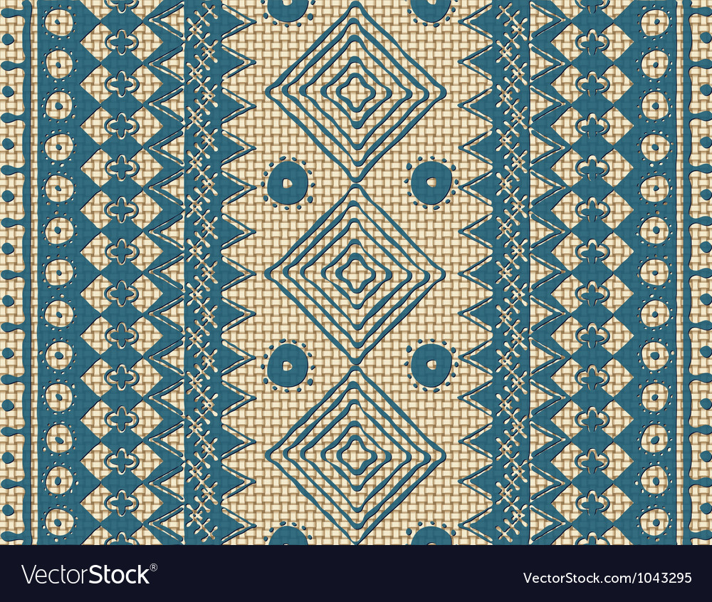 Brown ethnic texture vector image