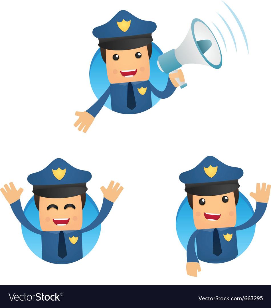 cartoon policeman royalty free vector image vectorstock