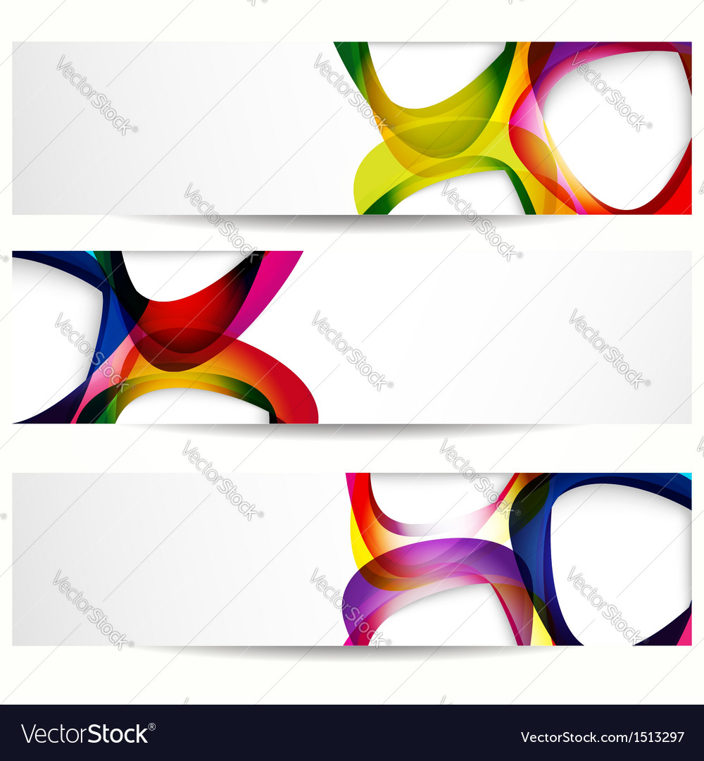 Abstract banner forms vector image